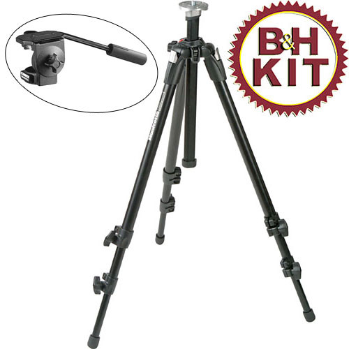 Manfrotto 190XDB Tripod Legs (Chrome) with 3126 Fluid Head