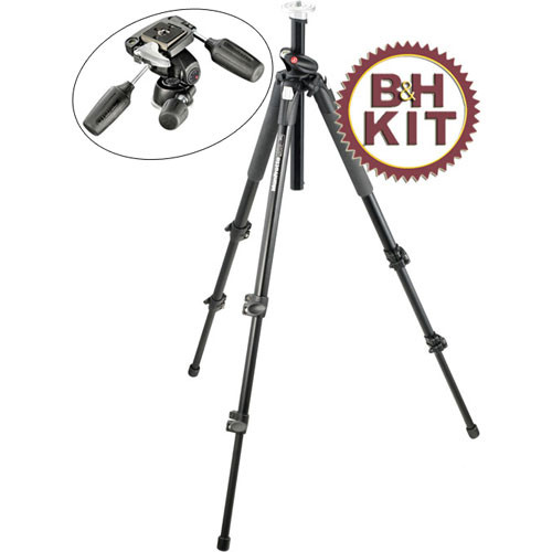 Manfrotto 190XPROB Aluminum Tripod with 804RC2 3-Way Pan/Tilt Head Kit