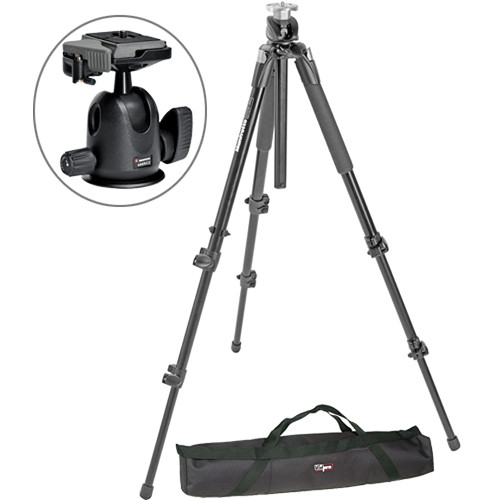 Manfrotto 190XPROB Tripod with 496RC2 Ball Head and Case Kit