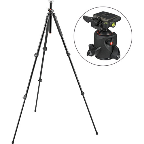 Manfrotto 190 Pro 3-Section Aluminum Tripod with 056 Ball Head Kit