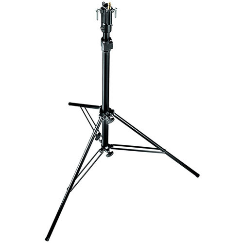 Manfrotto 256BUAC Self-Locking Air Cushioned Light Stand, Black - 7' (2.1 m)
