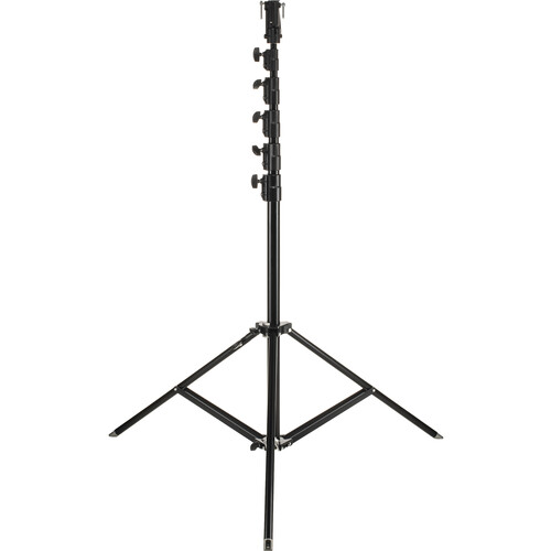 Manfrotto 269HDBU Super High Aluminum Stand with Leveling Leg - Black - 24'