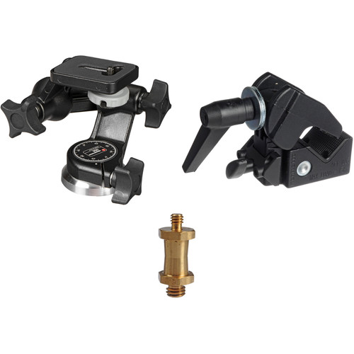 Manfrotto Super Clamp with 056 3-D Junior Head