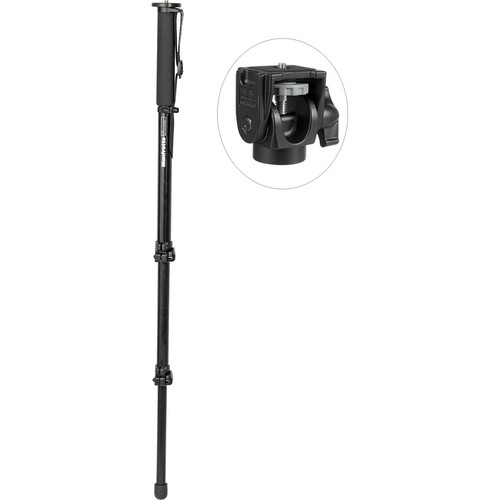 Manfrotto 3216 3 Section Monopod (Black) with 234 Swivel Tilt Head