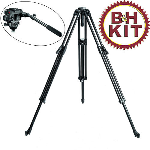 Manfrotto 351MVB Tripod Legs with 519 Fluid Head (Black)