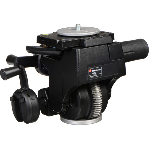 Manfrotto 400 Deluxe Geared Head (Quick Release) - Supports 22 lbs (10kg)