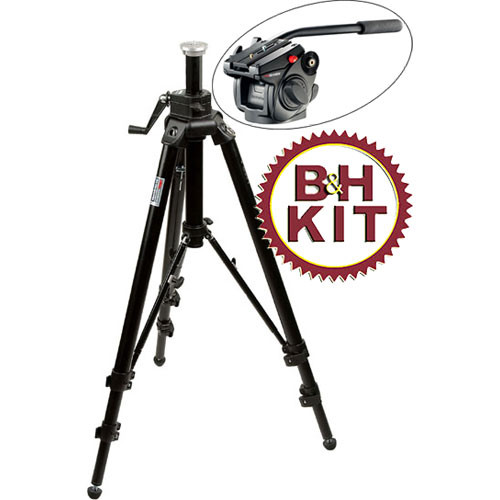 Manfrotto 475B Professional 2-Stage Tripod (Black) with 501HDV Head