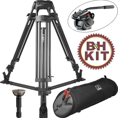 Manfrotto 525MVB 2-Stage Aluminum Tripod w/501HDV Head Kit