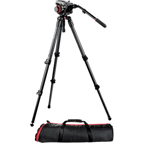 Manfrotto 504HD Head w/535 2-Stage Carbon Fiber Tripod System