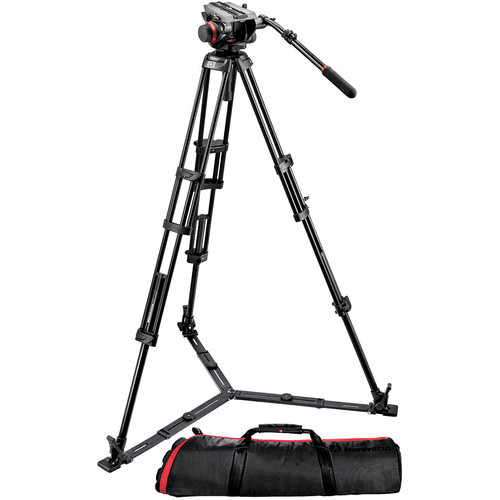 Manfrotto 504HD Head with 546GB 2-Stage Aluminum Tripod System