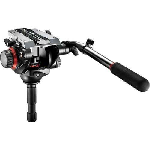 Manfrotto 504HD Video Fluid Head & 546GB Pro Video Tripod w/Ground Spreader