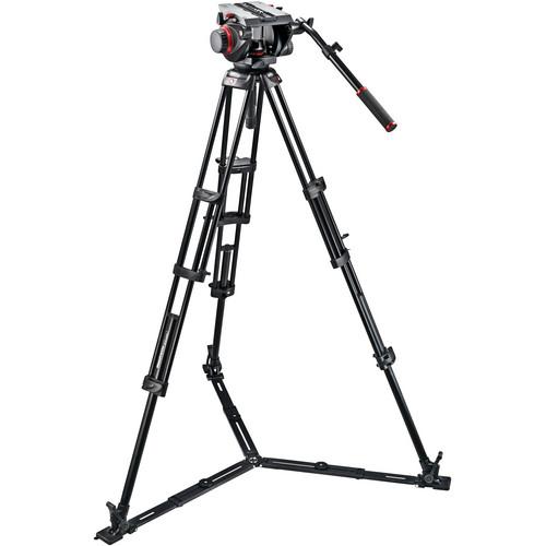 Manfrotto 509HD Video Head & 545GB Aluminum Tripod Pro Ground-Twin Kit 100