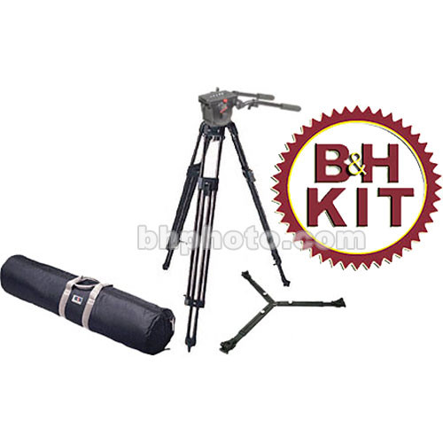 Manfrotto 3193 Tripod Legs (Chrome) with 516 Fluid Head Kit