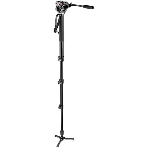 Manfrotto 561BHDV Video Monopod with Fluid Head (Black)