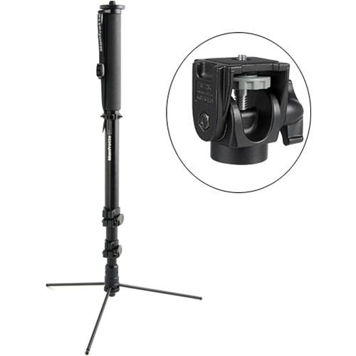 Manfrotto 682B Professional Monopod w/234 Swivel/Tilt Head - Supports 5.5 lb (2.5kg)