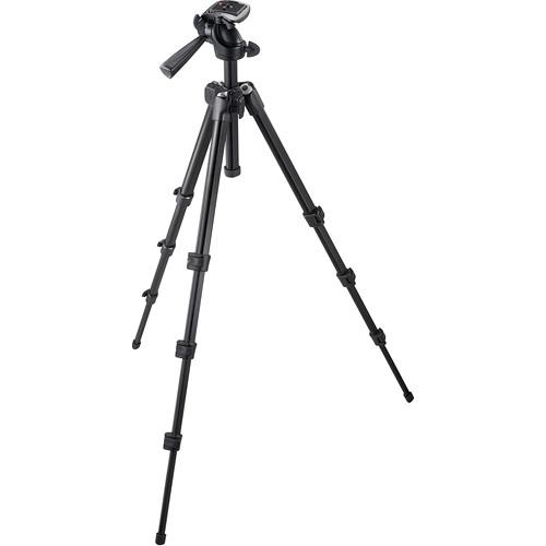 Manfrotto 7301YB 4-Section Aluminum Tripod w/ 3-Way Head - Supports 7.7 lbs (3.5kg)
