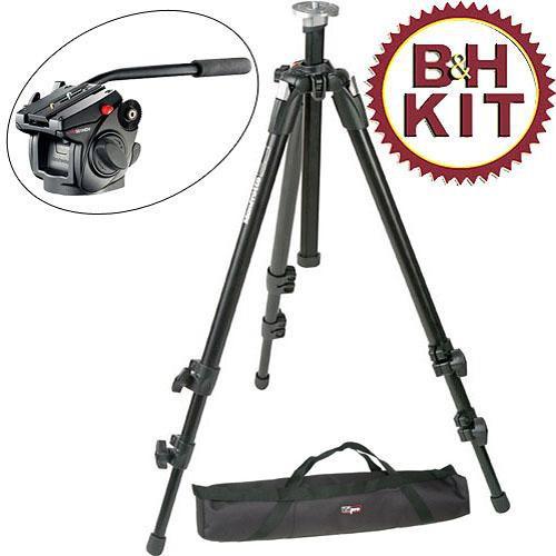 Manfrotto BO055XDB501K Pro Tripod Kit with 501HDV Head & Bag (Black)