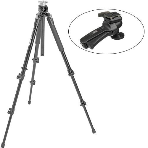 Manfrotto 190XPROB 3-Section Tripod with 322RC2 Ball Head Kit