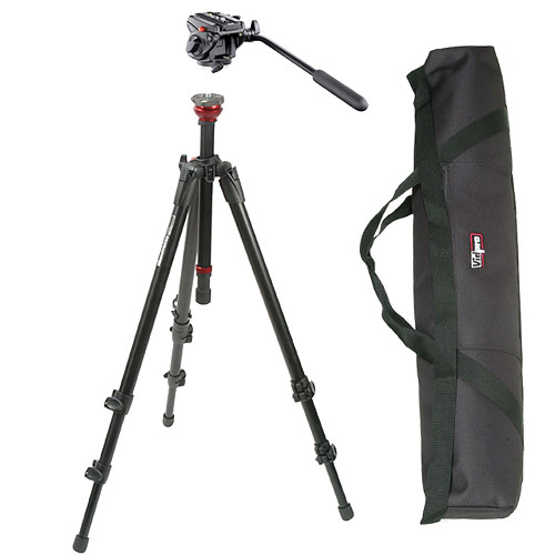 Manfrotto BO755XB701HD MDeVe Aluminum Video Tripod System with Bag (Black)