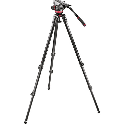 Manfrotto MVH502A Fluid Head and 535 CF Tripod System with Carrying Bag