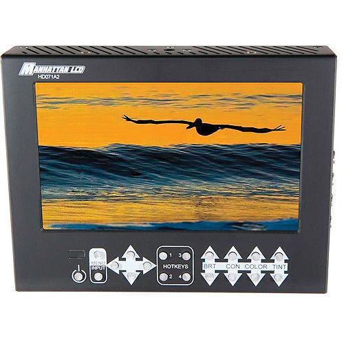 "Manhattan LCD HD071A2 7.1"" HD Pro LCD Monitor (Canon Battery Plate)"