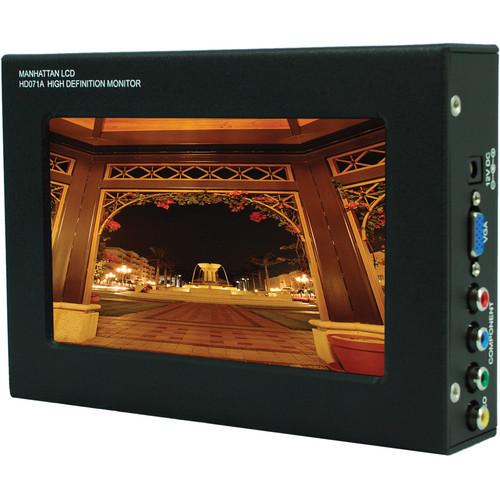 """Manhattan LCD HD071A-P 7.1"""" HD Pro Monitor w/Panasonic Battery Plate"""