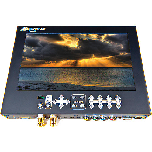 "Manhattan LCD 8.9"" HD Professional LCD Monitor with Panasonic Battery Plate"