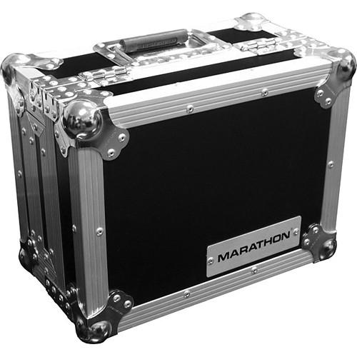 "Marathon MA-10MIX 10"" Flight Road DJ Mixer Case (Black and Chrome)"