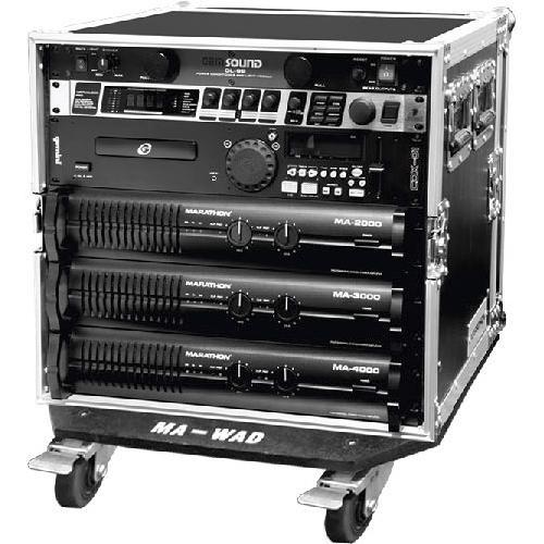 "Marathon MA-12UAD21W  Flight Road  12U Deluxe Amplifier 21"" Rack Case"