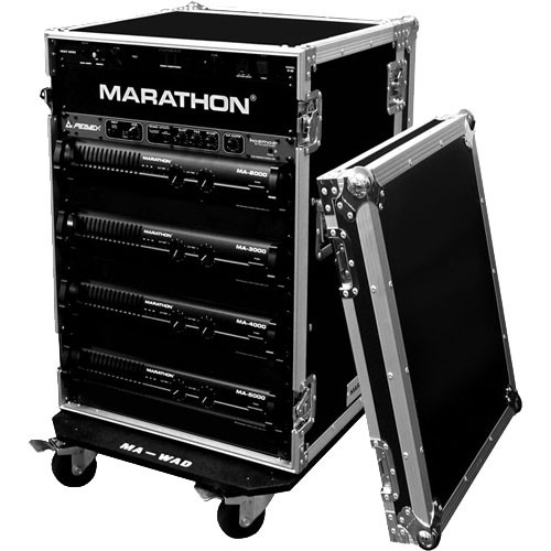 Marathon MA-14UADW Flight Road 14U Deluxe Amplifier Rack Case (Black)