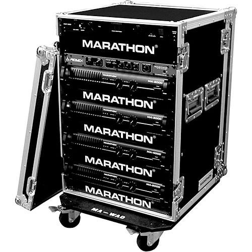 Marathon MA-16UADW Flight Road 16U Deluxe Amplifier Rack Case (Black)