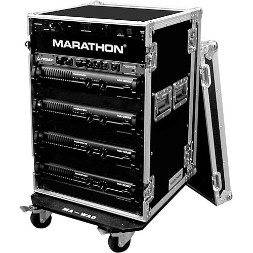 Marathon MA-18UADW Flight Road 18U Deluxe Amplifier Rack Case (Black)