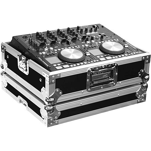 "Marathon MA-19MIX 19"" Flight Road DJ Mixer Case (Black and Chrome)"
