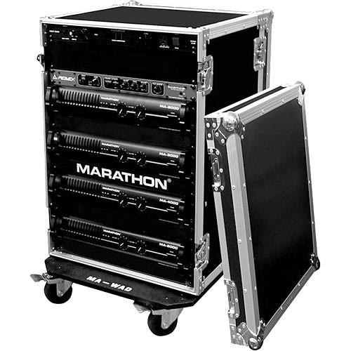Marathon MA-20UADW Flight Road 20U Deluxe Amplifier Rack Case (Black)