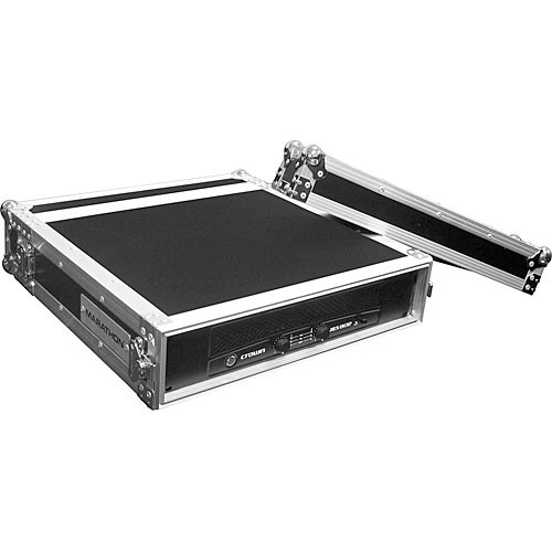 Marathon MA-2UAD  Flight Road 2U Deluxe Amplifier Rack Case (Black and Chrome)