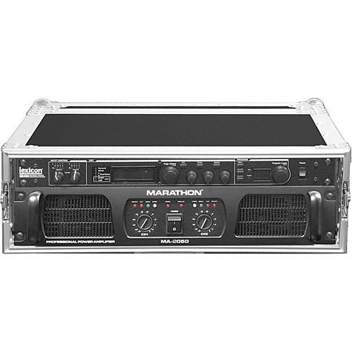 Marathon MA-3UAD  Flight Road 3U Deluxe Amplifier Rack Case (Black and Chrome)