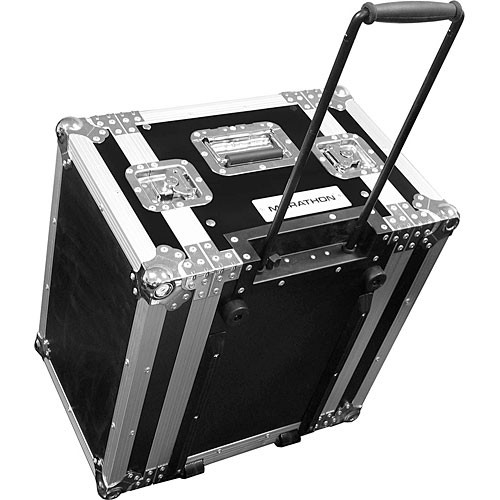 Marathon MA-6UEDHW  Flight Road 6U Wheeled Deluxe Effects Rack Case (Black)