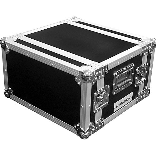 Marathon MA-6UED  Flight Road 6U Deluxe Effects Rack Case (Black)