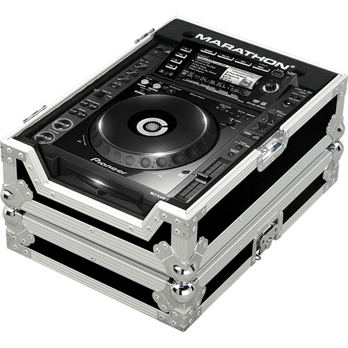 Marathon MA-CDJ2000 Flight Road Large Format CD/CDJ Player Case (Black on Chrome)