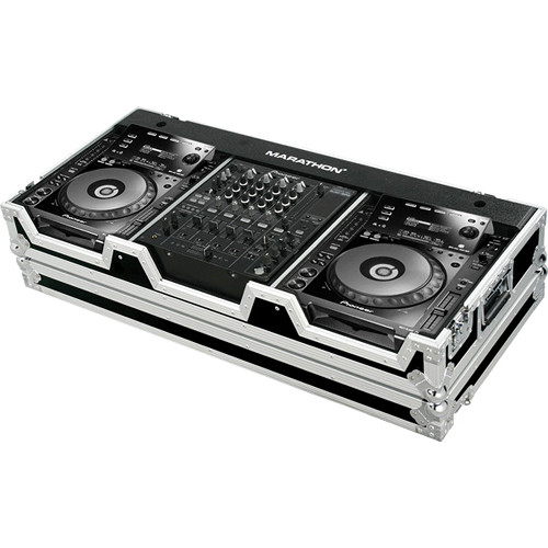 "Marathon MA-CDJ9H12W Flight Road Case for 2 Large Format CD Players Plus 12"" Mixer"