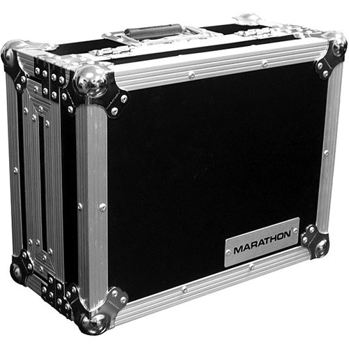 Marathon MA-CDJ Flight Road Case for Medium Format CD Players (Black and Chrome)
