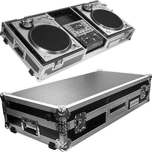 "Marathon MA-DJ10W-Standard Dual Turntable and 10"" Mixer DJ Coffin Case"