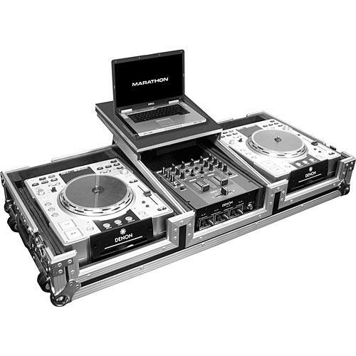 "Marathon MA-DJCD10WLT 2 CD Players, 10"" Mixer and 17"" PC Case (Black and Chrome)"