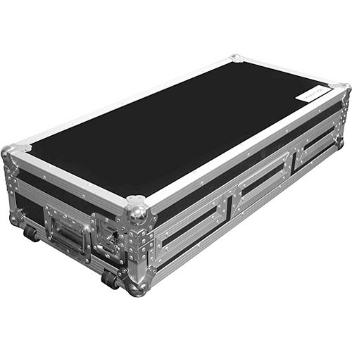 Marathon MA-DJCD10W Flight Road Coffin Case (Black and Chrome)