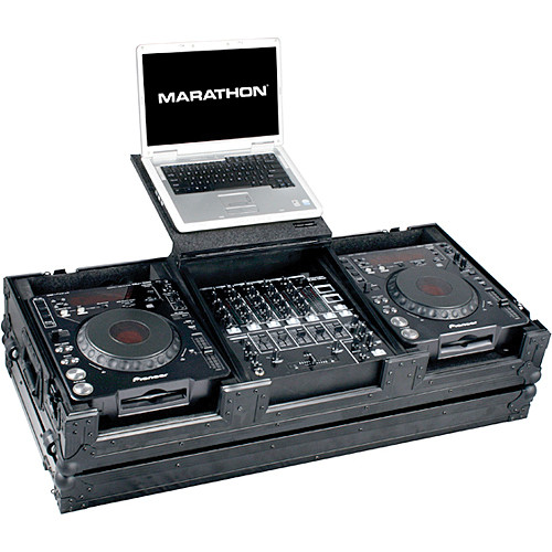 "Marathon MA-DJCD12WLTBLK  2 CD Players, 12"" Mixer and 17"" PC Case (Black)"