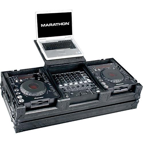 "Marathon MA-DJCD12WLTBLK  2 CD Players, 12"" Mixer and 17"" PC Case (Black)"