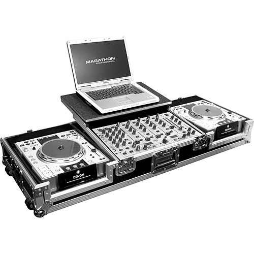 "Marathon MA-DJCD19WLT  2 CD Players, 19"" Mixer and 17"" PC Case (Black and Chrome)"