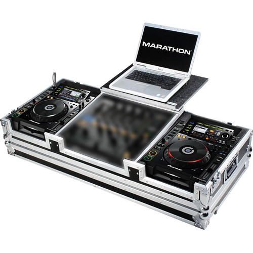 Marathon Case For 2 Pioneer CDJ2000 & DJM-900 Nexus Mixer W/ Laptop Shelf