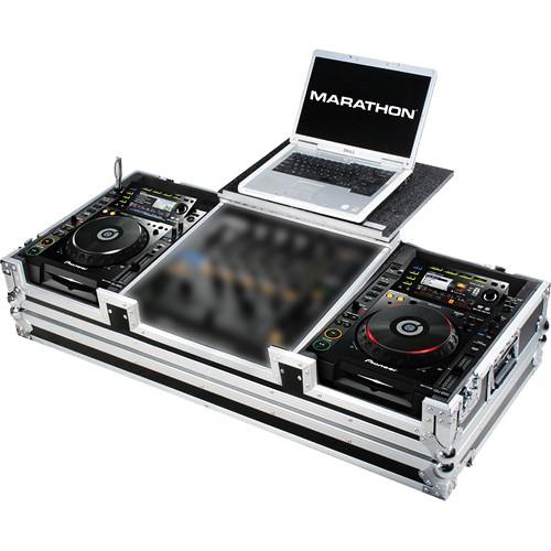 Marathon Case For 2 Pioneer CDJ2000 & DJM-900 Nexus Mixer W/ Laptop Shelf