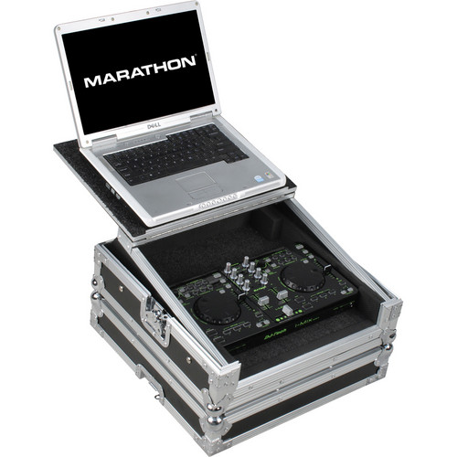 Marathon Case For DJ-Tech iMix/iMix Reload/U2 Station W/ Laptop Shelf (Black)